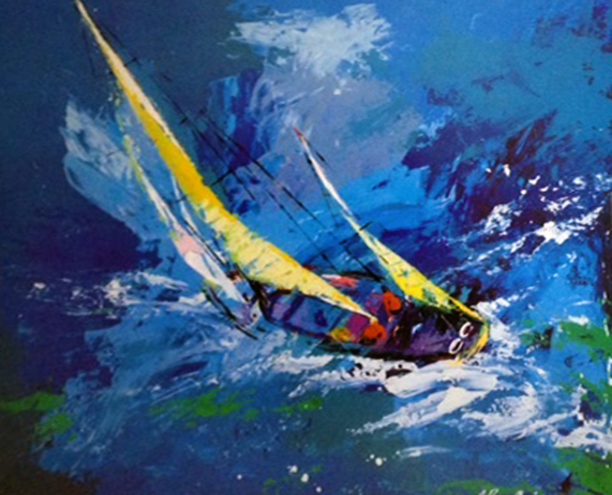 Sailing 1977 by LeRoy Neiman