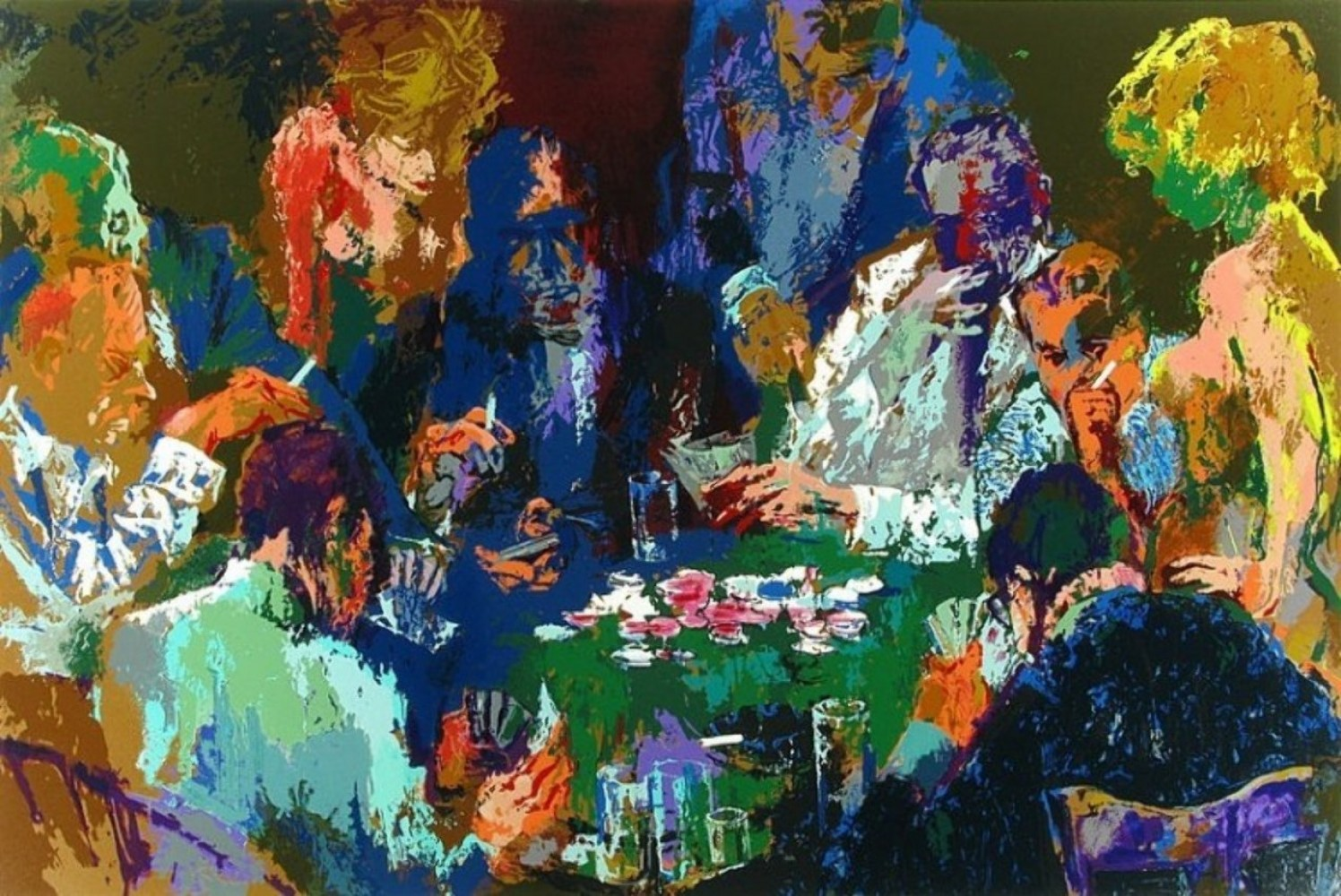 International Poker 2004 by LeRoy Neiman
