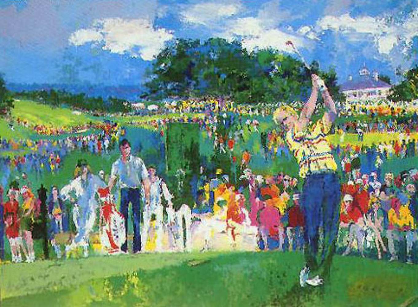 April At Augusta 1990 by LeRoy Neiman