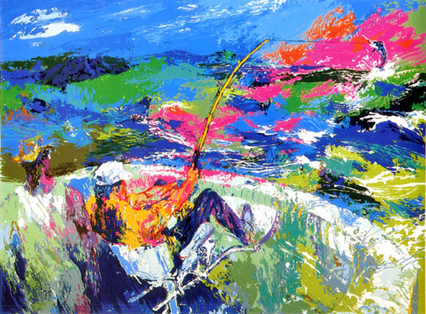 Marlin Fishing AP 1981 by LeRoy Neiman