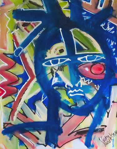 Colorful Face 2014 by Neith Nevelson