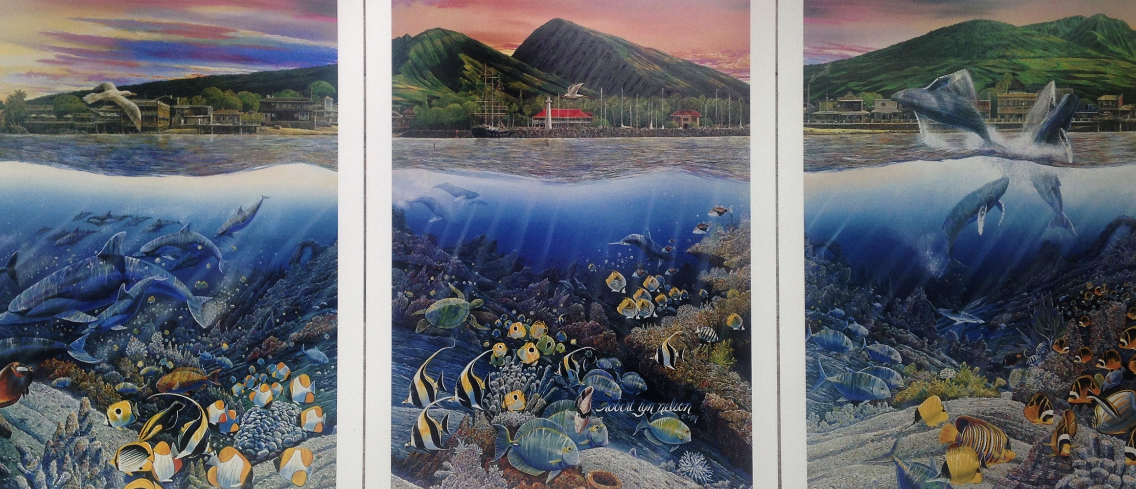 Lahaina Rhythms: Land And Sea Triptych 1987