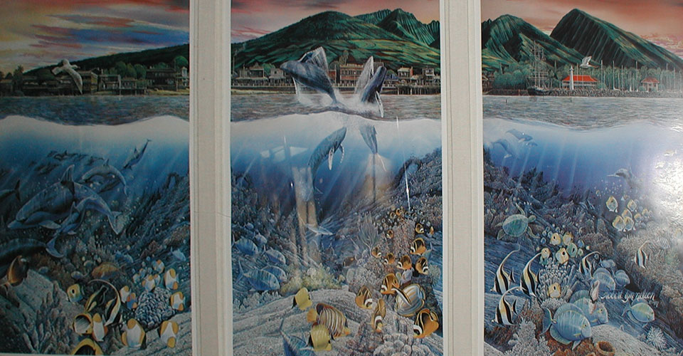 Lahaina Rhythm Land and Sea Triptych