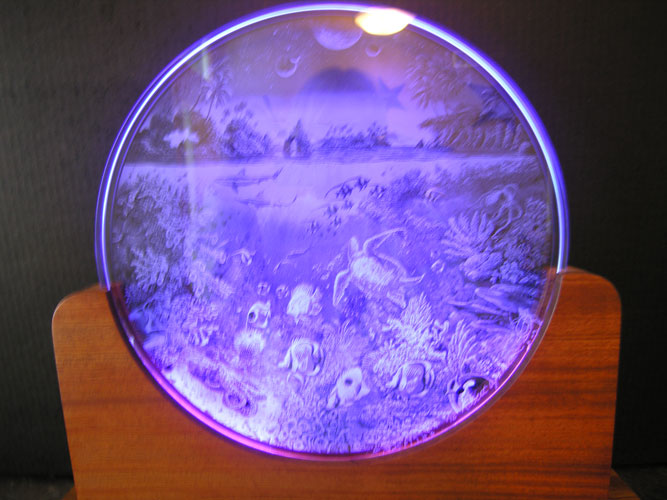 Planetary Choir Glass Luminaire Sculpture 1995