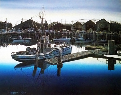 Docks of Morro Bay 1982 32x38