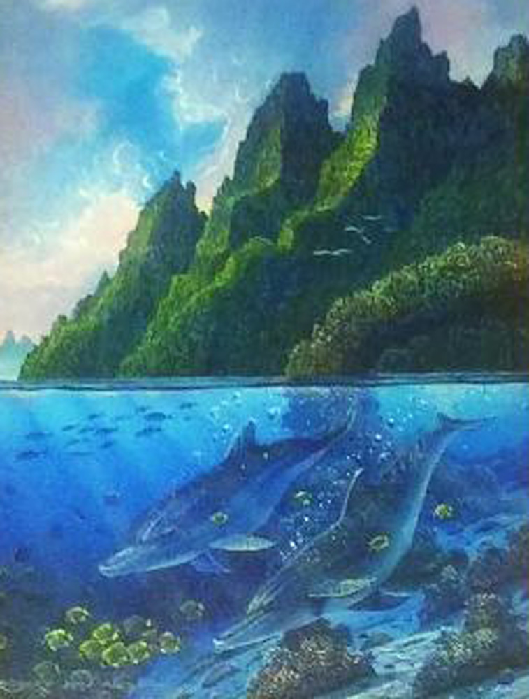 Near the Reef 1991 22x25