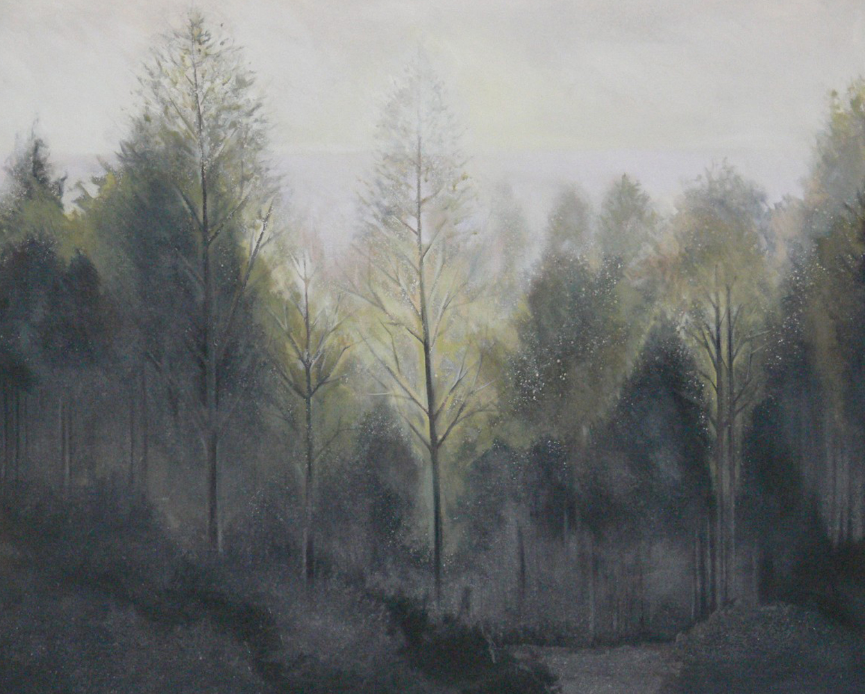 Forest Morning 1984 60x73 (Early Landscape)