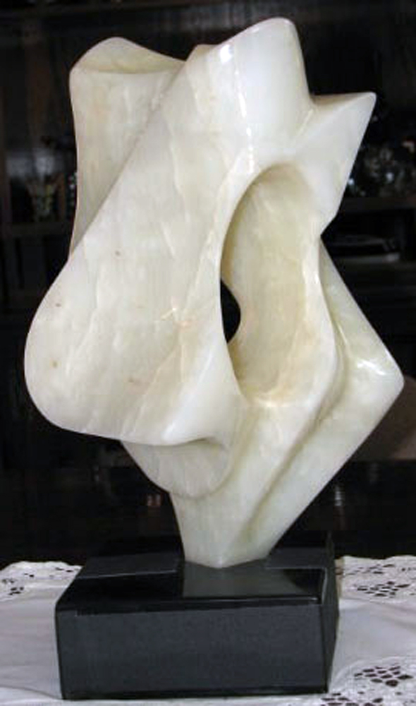 Enigma White Onyx Sculpture 1974