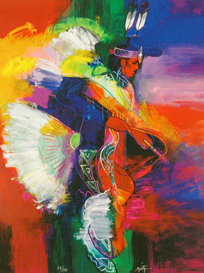 Fancy Dancer I and II, Set of 2 Giclees 2008