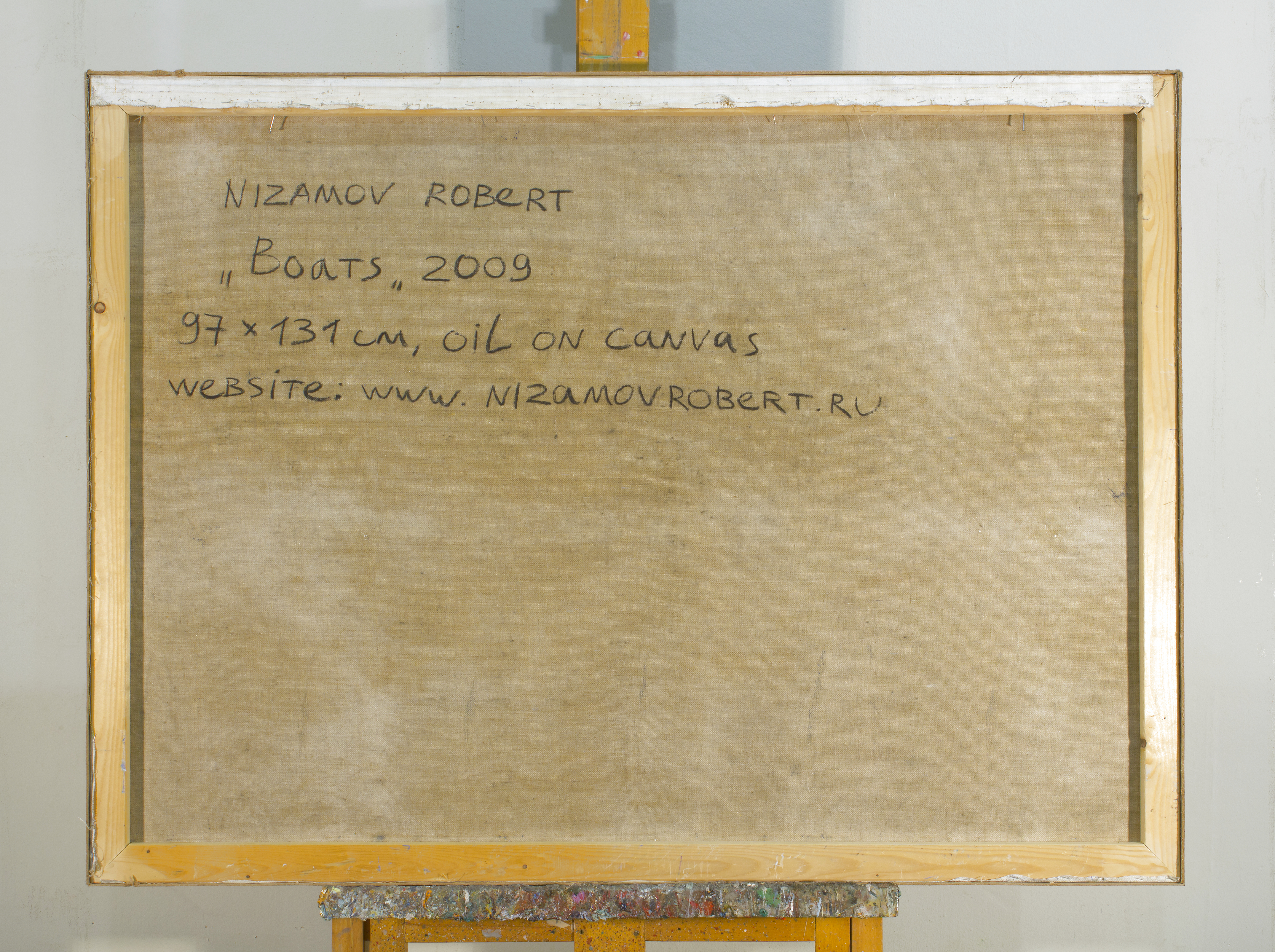 Boats 2010 38x51 by Robert Nizamov