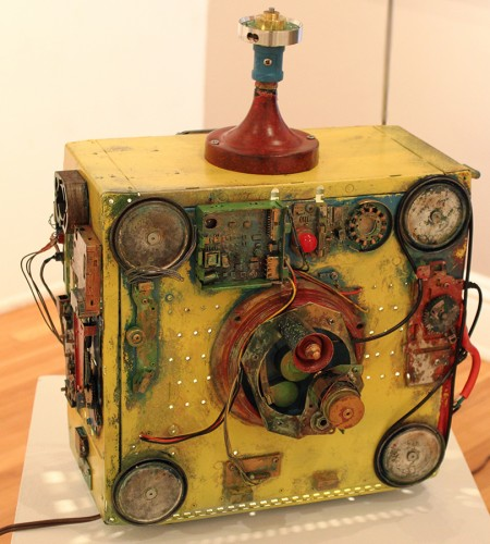 Tabletop Reflux Capacitor Mixed Media Sculpture
