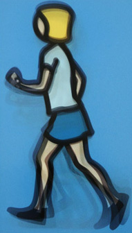 Bibi Running 2012 by Julian Opie
