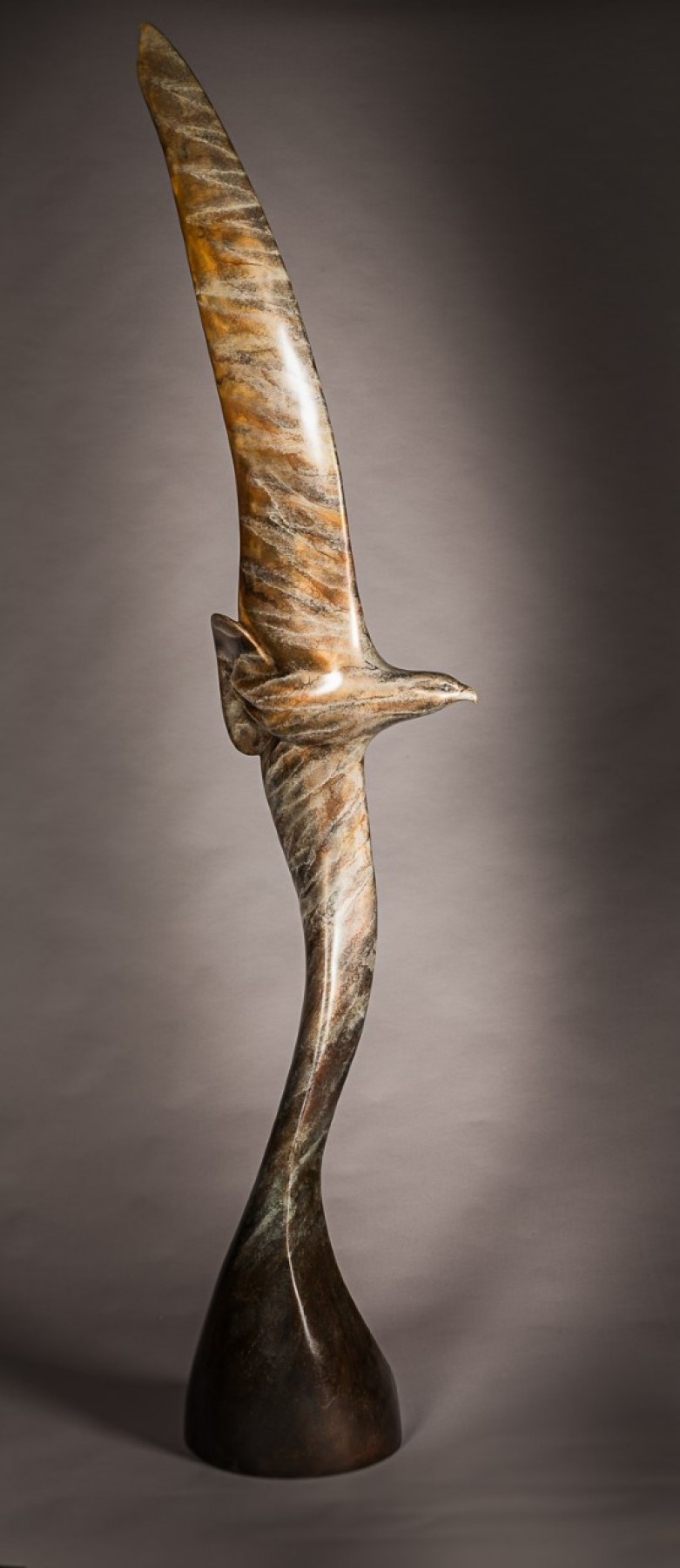 Riding the Thermals Life Size Bronze Sculpture 2017 97 in