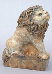 Literary Lion Bronze Sculpture