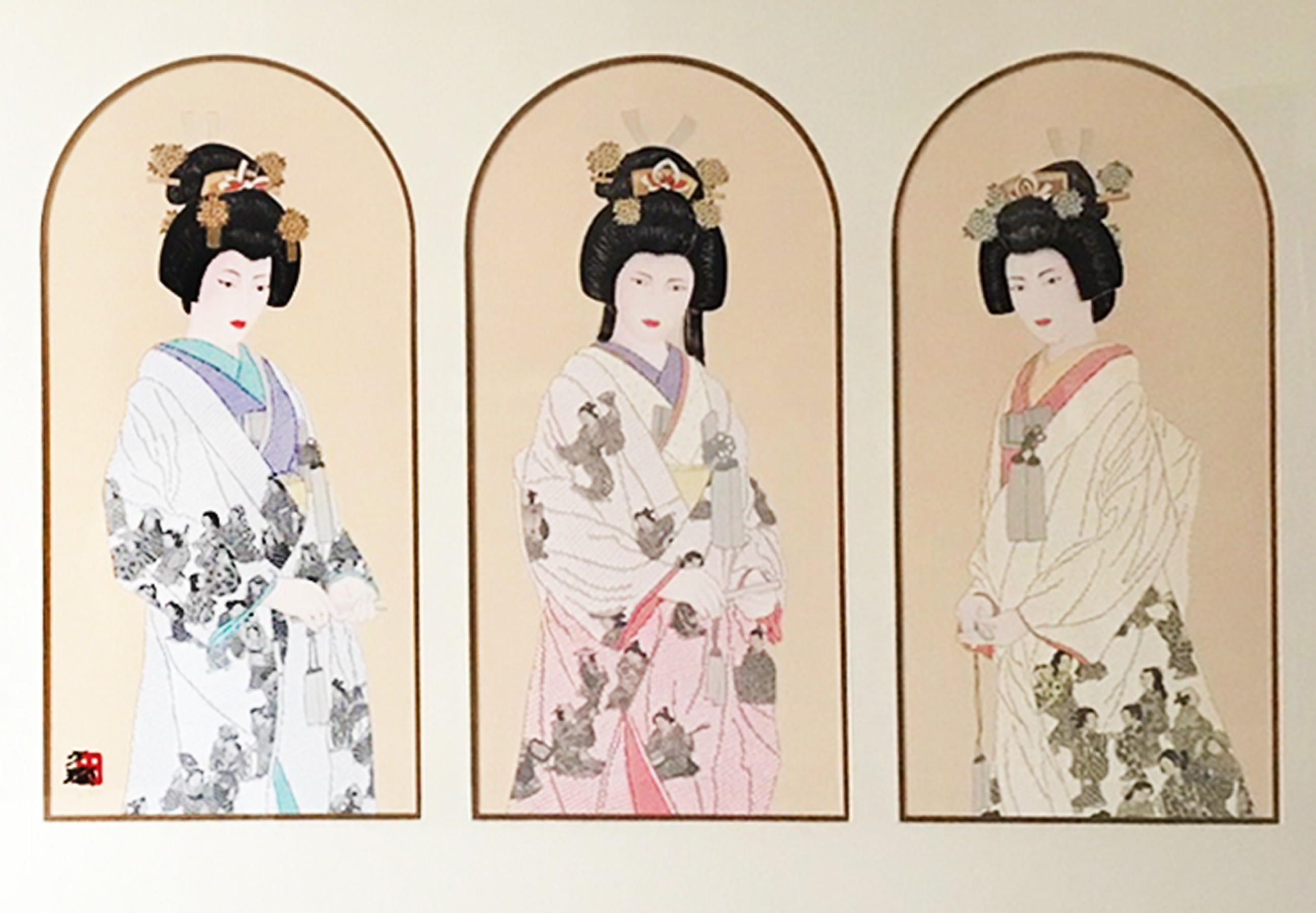 Three Eternal Brides Triptych 1993
