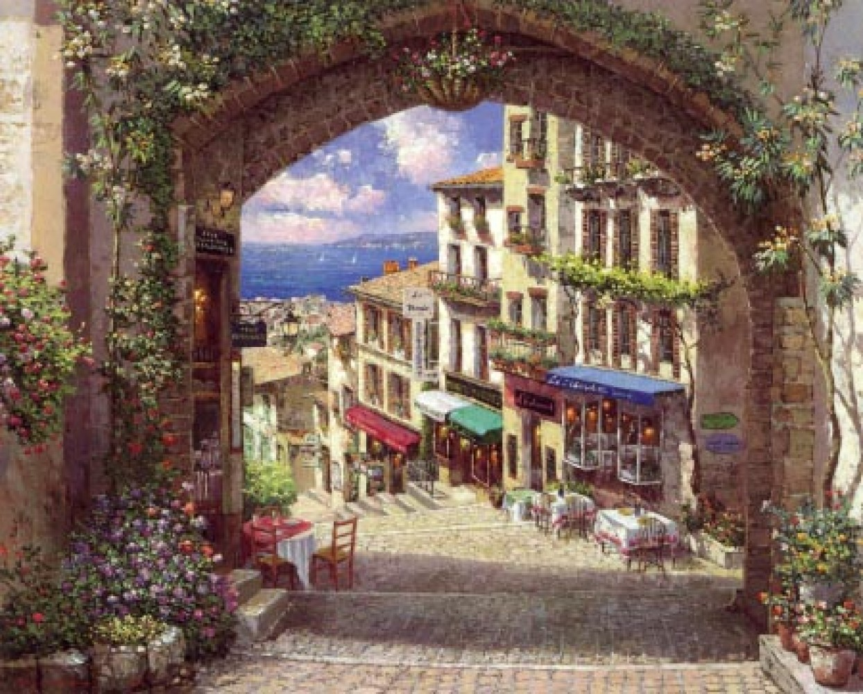 Archway to Cagnes 2001 55x45