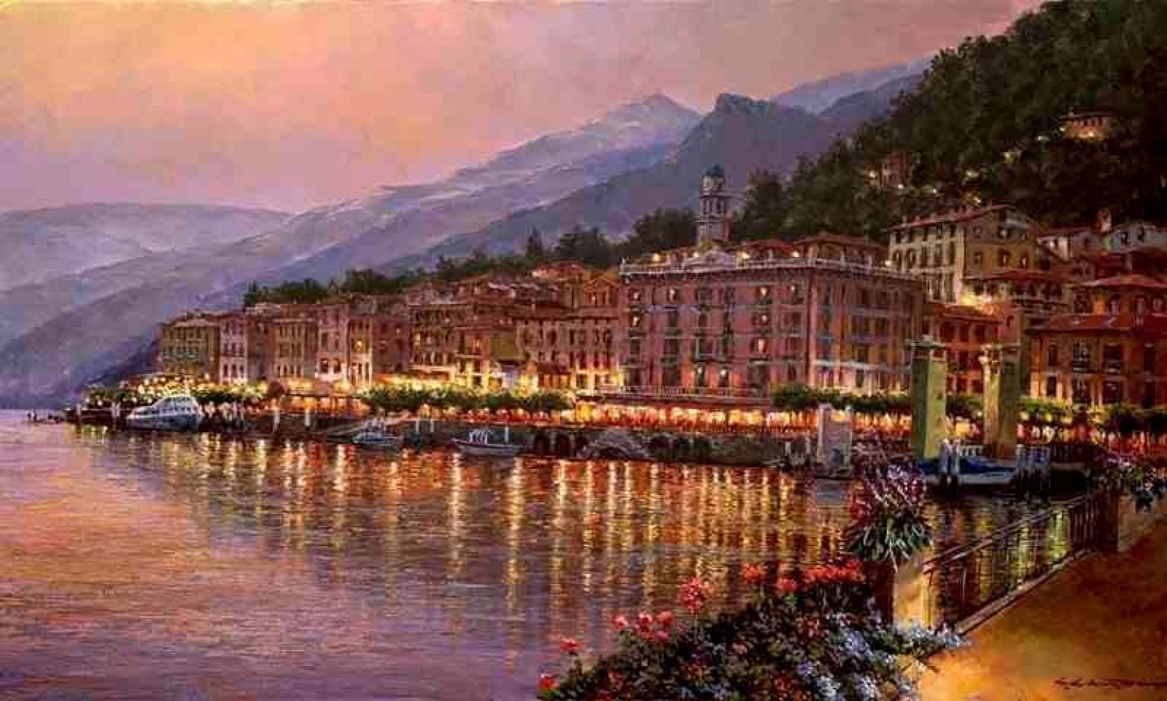 Bellagio Twilight Lake Como Embellished 2010
