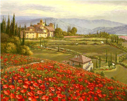Tuscany Red Poppies 2010 Embellished
