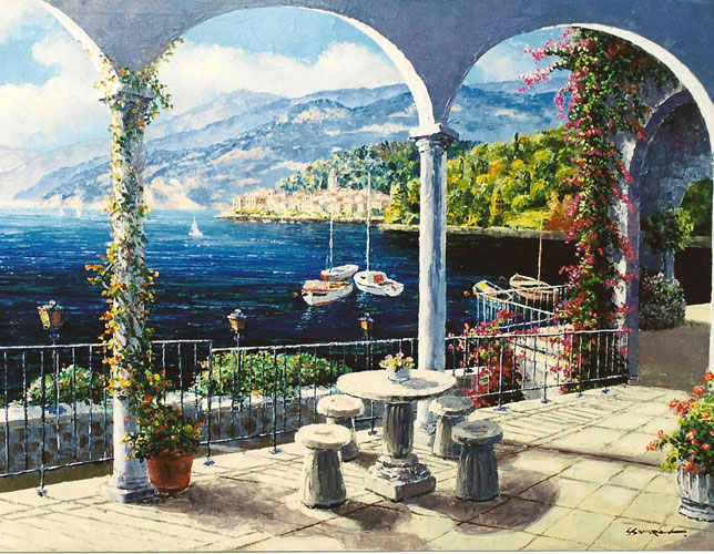 Arch of Bellagio, Italy 1999 40x50