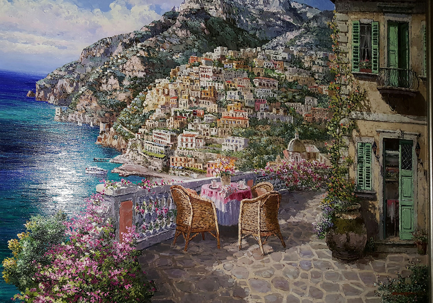 Balcony on Positano 36x48