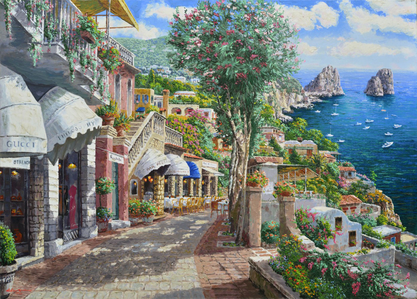 Afternoon in Capri Embellished