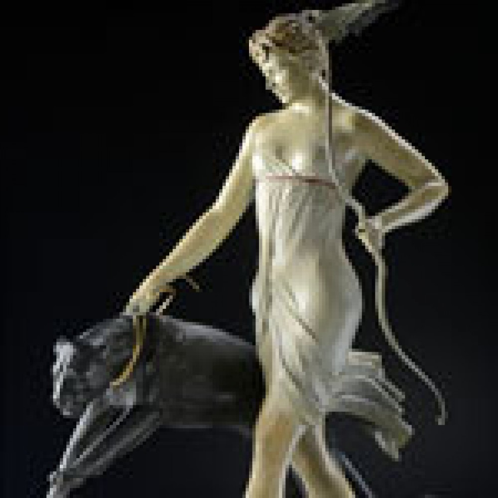 Goddess of the Hunt Bronze Sculpture 20 in