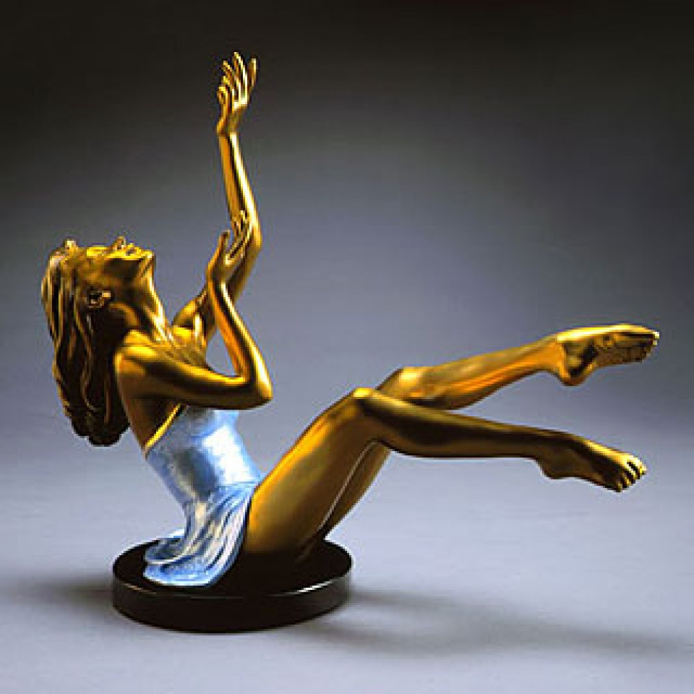 Elation Bronze Sculpture 2000 17 in