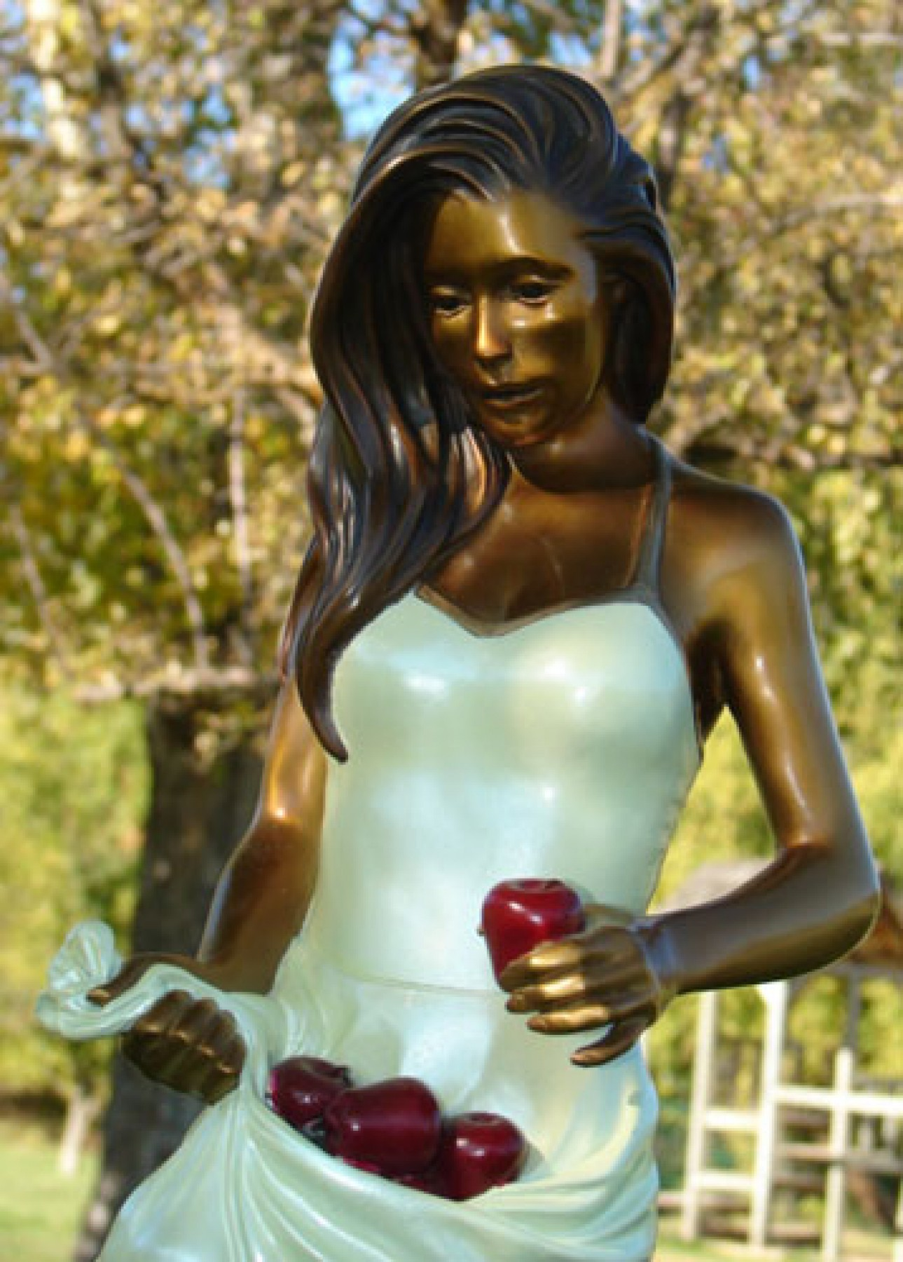 Apples Bronze Sculpture 2009 16 in