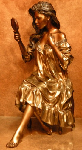 Vanity Faire Bronze Sculpture 1992 29x25 in