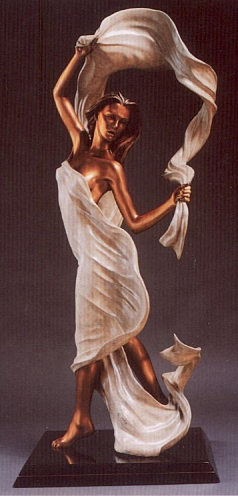 Windswept Bronze Sculpture 48 in