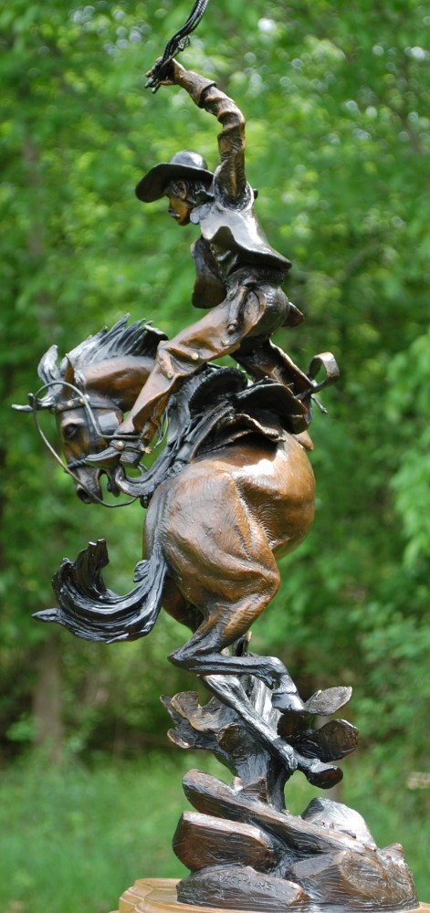 From an Eagles View Bronze Sculpture 1998 27 in