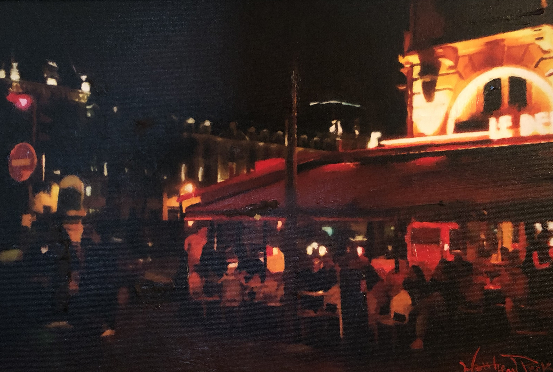 Cafe At Night 2016 20x26