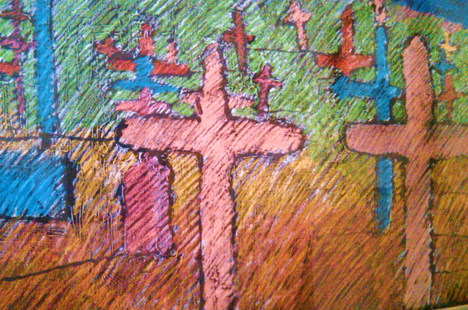 Graveyard and Spirit of Renewal Pastel