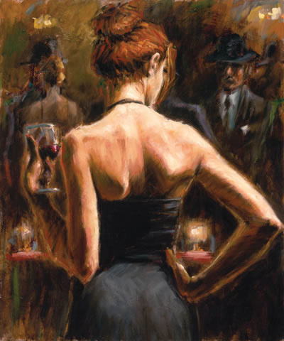 Girl With Red Hair 2006 by Fabian Perez