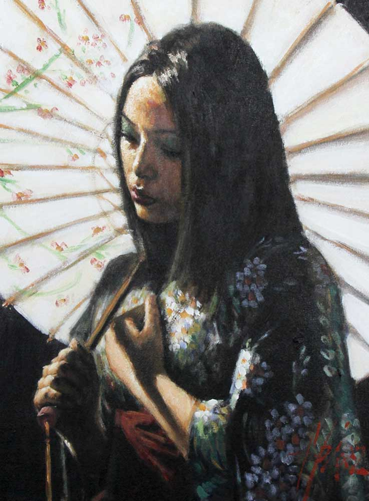 White Umbrella 2007 30x24