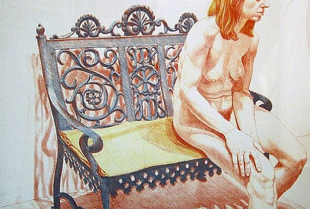 Girl  on an Iron Bench  1974