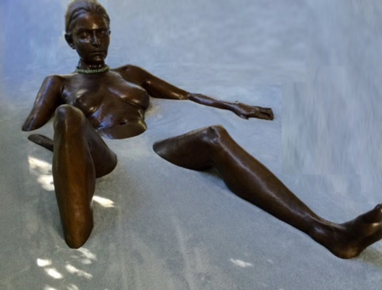 Bather Bronze Life Size Sculpture 1999