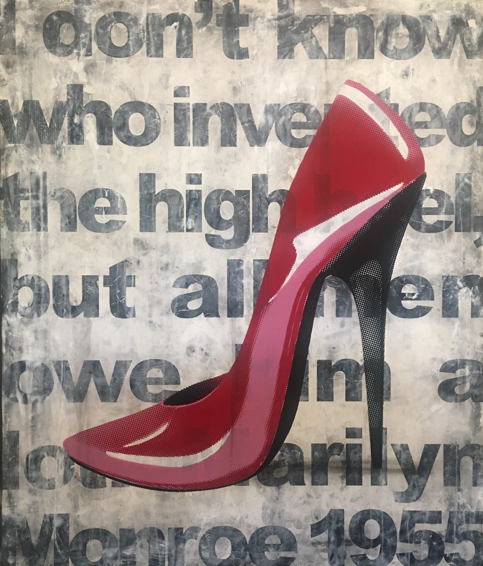 Red Shoe #5 2009 56x46
