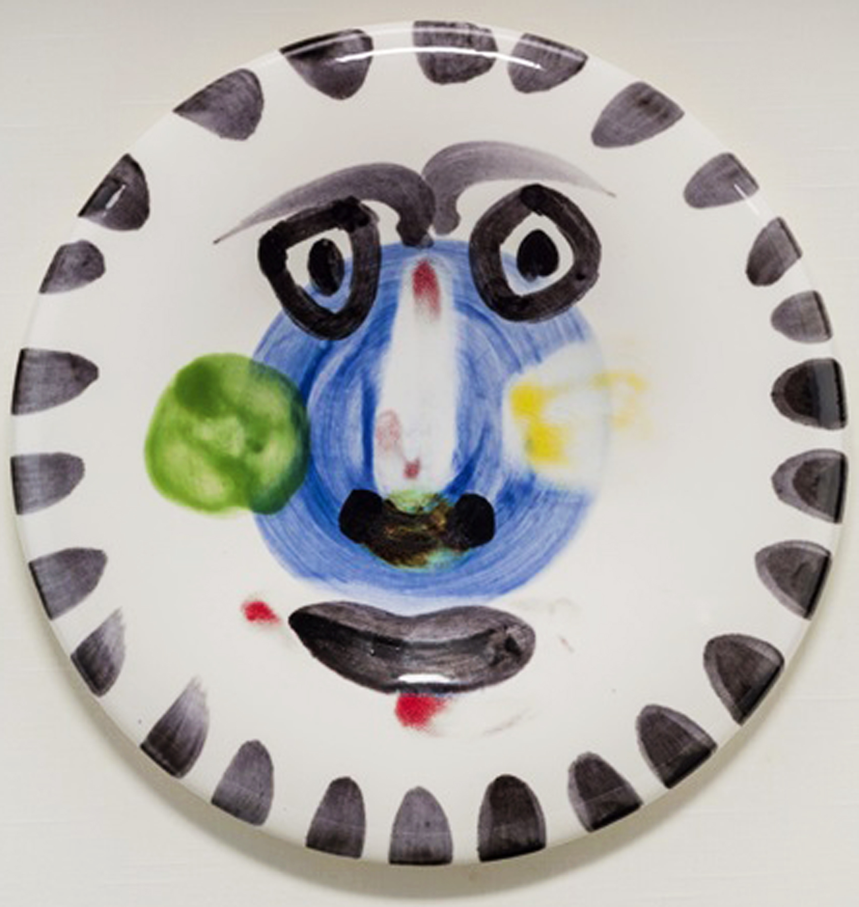 Visage No. 202 Ceramic Plate 193 20 in