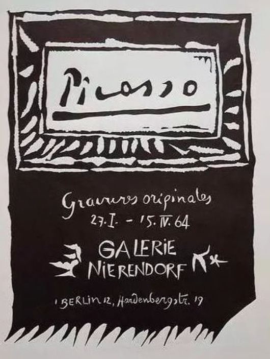 Picasso. Galerie Nierendorf, Berlin. 27 January - 15 April 1964