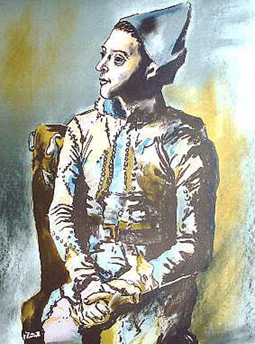 Portrait of Harlequin, Picasso the Early Years, Musee D'art Histoire, Paris 1960 Poster