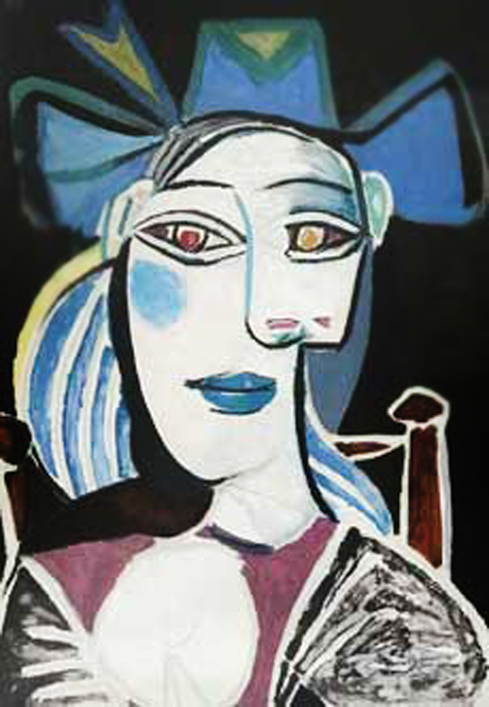 Buste De Femme Au Chapeau Bleu by  Picasso Estate Signed Editions