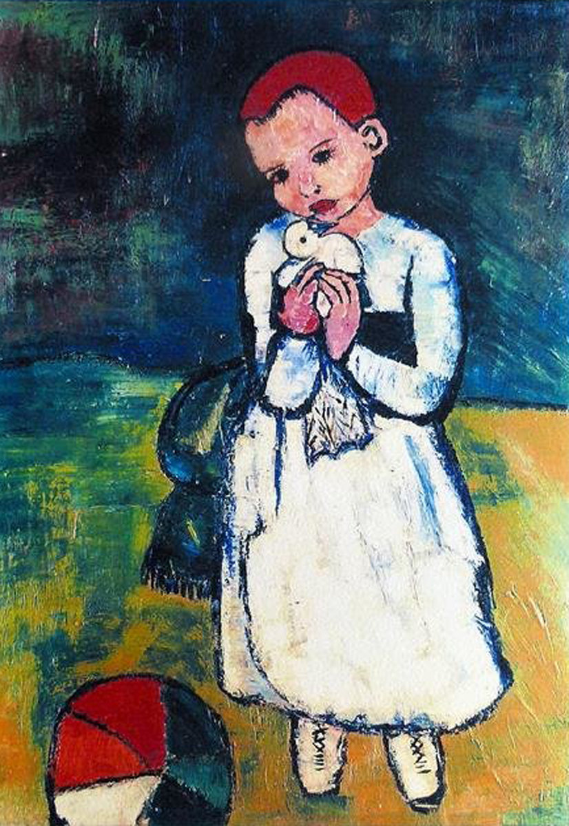 Child Holding a Dove by  Picasso Estate Signed Editions