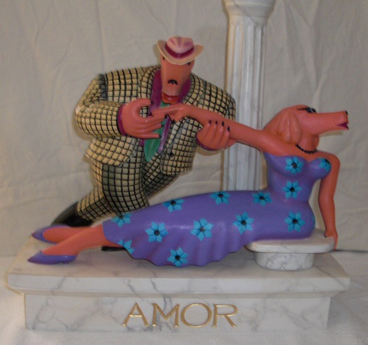 Amor Wood Sculpture
