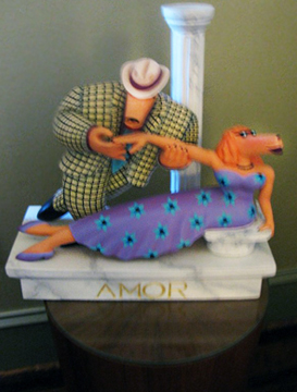 Amor Wood Sculpture 1990