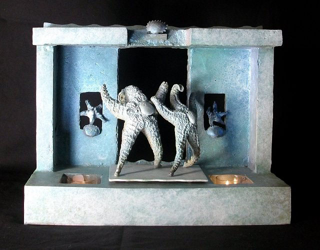 Starfish Luciano And Placido on Stage Bronze Sculpture Unique