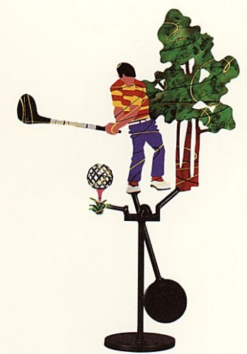 Golfer Kinetic Sculpture 1990