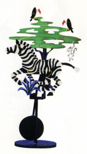 Run Zebra Run Kinetic Sculpture 1994 by Frederick Prescott