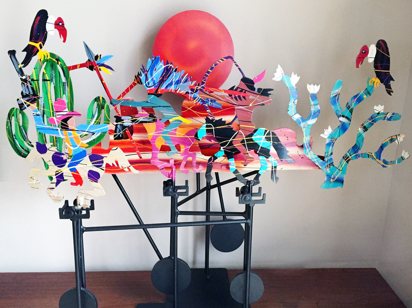 Tangle CBAI  Steel Kinetic Sculpture 1987