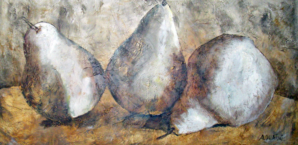 Three Pears 41x77